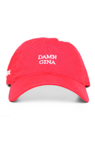 Damn Gina (Red Low Crown Cap)