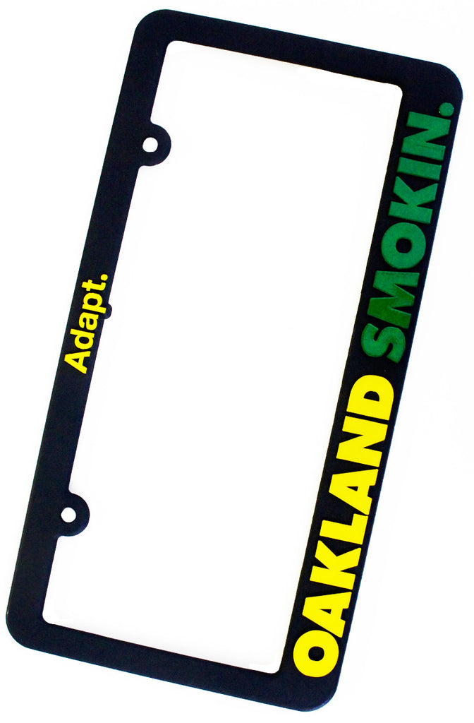 Oakland Smokin (Black/Green License Plate Frame)