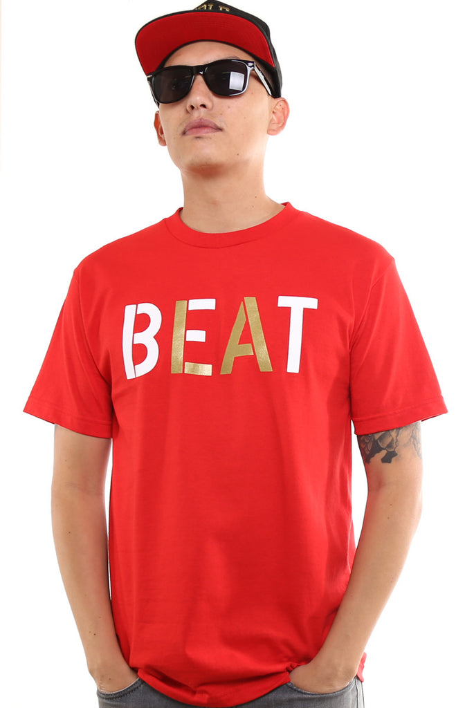 Beat LA (Men's Red/Gold Tee)