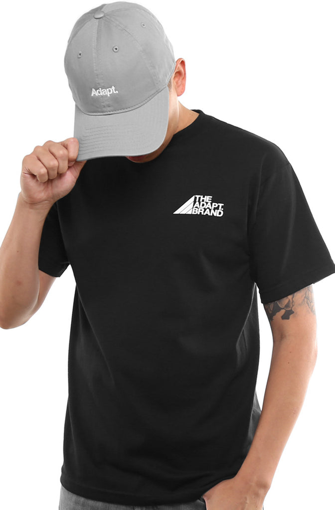 The Adapt Brand (Men's Black Tee)