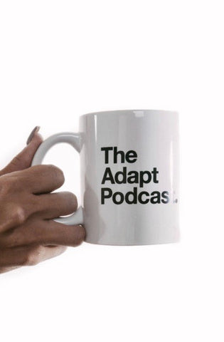 The Adapt Podcast. (White Mug)