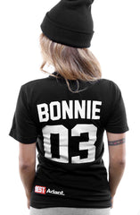 Breezy Excursion X Adapt :: Down To Ride (Bonnie) (Women's Black V-Neck)