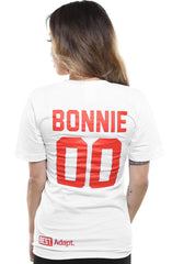 Breezy Excursion X Adapt :: Down To Ride (Bonnie) XXOO Edition (Women's White/Red V-Neck)