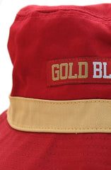GOLD BLOODED (Red Bucket Hat)