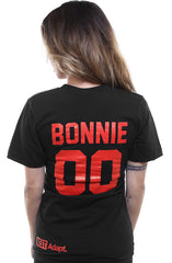 Breezy Excursion X Adapt :: Down To Ride (Bonnie) XXOO Edition (Women's Black/Red V-Neck)