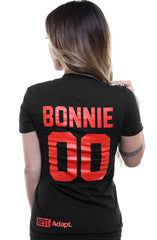 Breezy Excursion X Adapt :: Down To Ride (Bonnie) XXOO Edition (Women's Black/Red Tee)