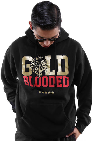 SAVS X Adapt :: Gold Blooded Chiefs (Men's Black/Red Hoody)