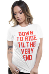Breezy Excursion X Adapt :: Down To Ride (Bonnie) XXOO Edition (Women's White/Red Tee)