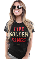 Five Golden Rings (Women's Black Tee)