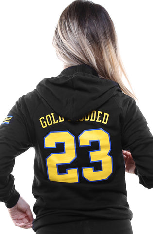 Gold Blooded Royalty :: 23 (Women's Black Hoody)