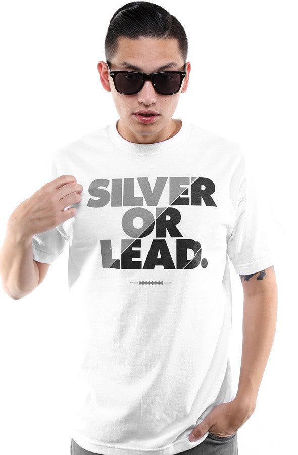 Silver Or Lead (Men's White Tee)