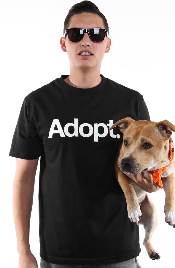 e2311a1f94 San Francisco SPCA x Adapt    Adopt (Men s Black Tee) – Adapt.