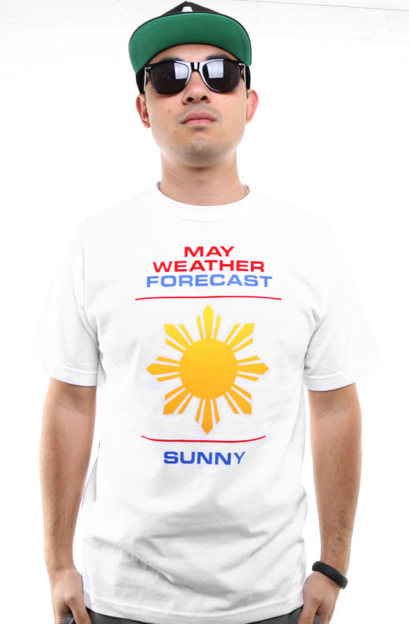 Ashley Vee x Adapt :: Weather Forecast (Men's White Tee)