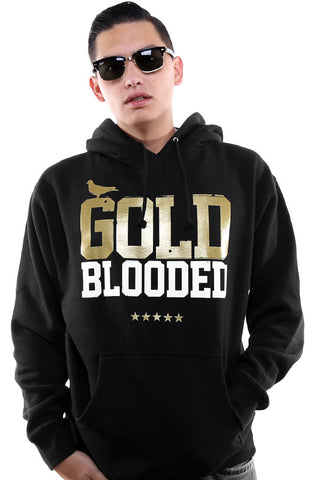 Gold Blooded (Men's Black/White/Gold Hoody)