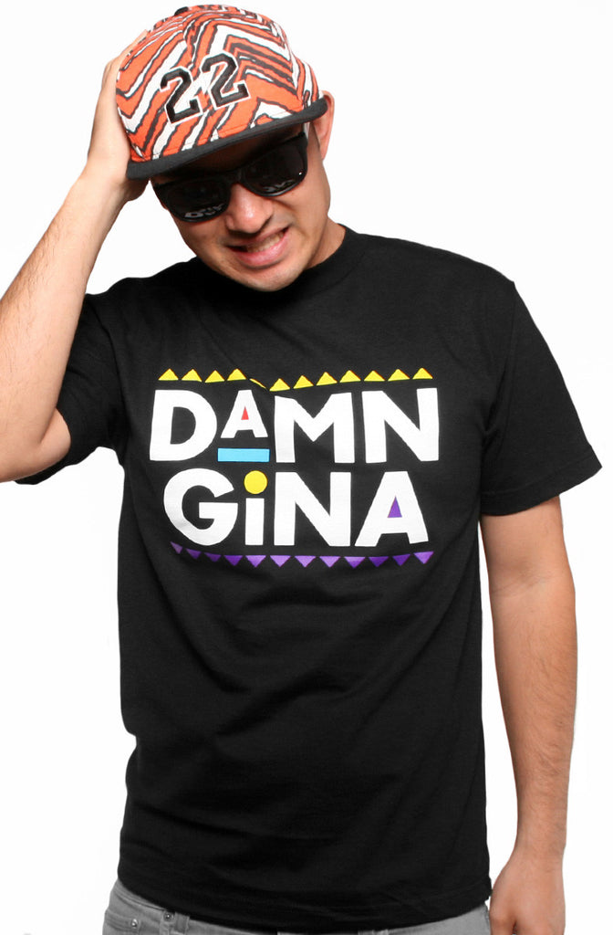 Damn Gina (Men's Black Tee)