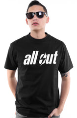 All Out (Men's Black Tee)
