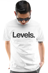 Levels (Men's White Tee)