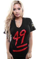 Booger Kids X Adapt :: Keep It 49 (Women's Black V-Neck)