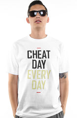 Frozen Kuhsterd x Adapt :: Cheat Day Every Day (Men's White Tee)