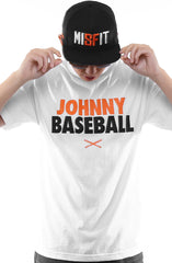 Johnny Baseball (Men's White Tee)