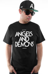 Angels and Demons (Men's Black Tee)
