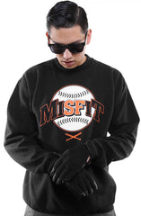 Misfit Classic (Men's Black Crewneck Sweatshirt)