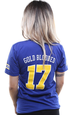 Gold Blooded Royalty :: 17 (Women's Royal V-Neck)