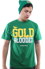 GOLD BLOODED Men's Kelly/Gold Tee