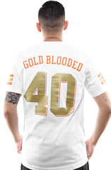 Gold Blooded Kings :: 40 (Men's White Tee)