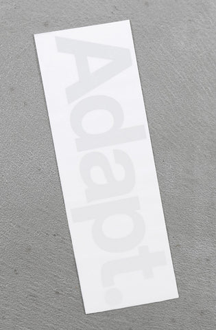"CTA Vinyl (10"" White Sticker 2-Pack)"