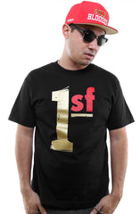 One SF (Men's Black/Gold Tee)