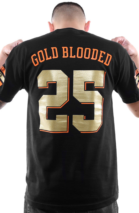 Gold Blooded Kings :: 25 (Men's Black Tee)