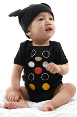 Dot Matrix (Baby Black Onesie)