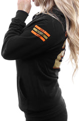 Gold Blooded Kings :: 28 (Women's Black Hoody)