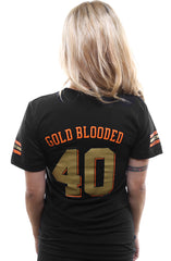 Gold Blooded Kings :: 40 (Women's Black V-Neck)