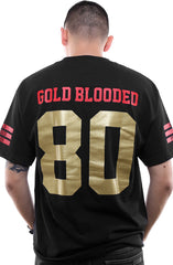 Gold Blooded Legends :: 80 (Men's Black/Gold Tee)