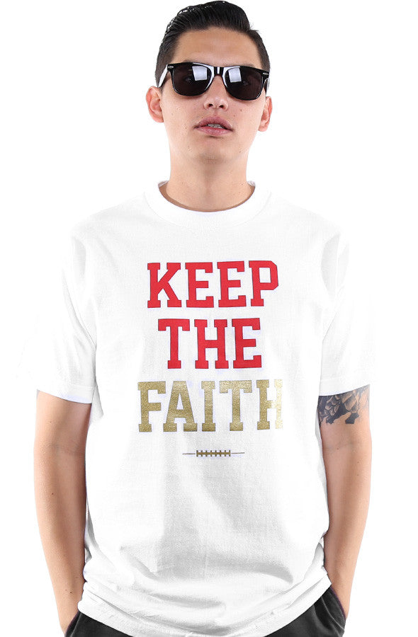 Keep The Faith (Men's White Tee)