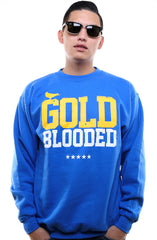 GOLD BLOODED Men's Royal Crewneck Sweatshirt