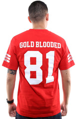 Gold Blooded Legends :: 81 (Men's Red Tee)