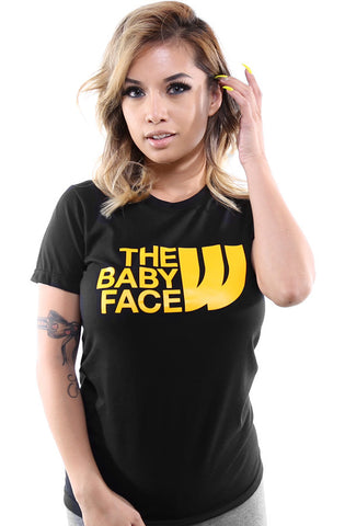 The Baby Face (Women's Black Tee)