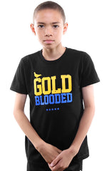 Gold Blooded (Youth Unisex Black/Royal Tee)