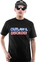 Outlaw & Disorder (Men's Black Tee)