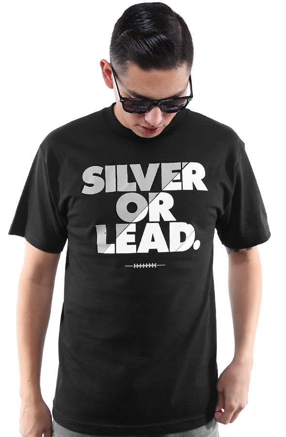 Silver Or Lead (Men's Black Tee)
