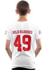 Gold Blooded Legends :: 49 (Youth Unisex White Tee)