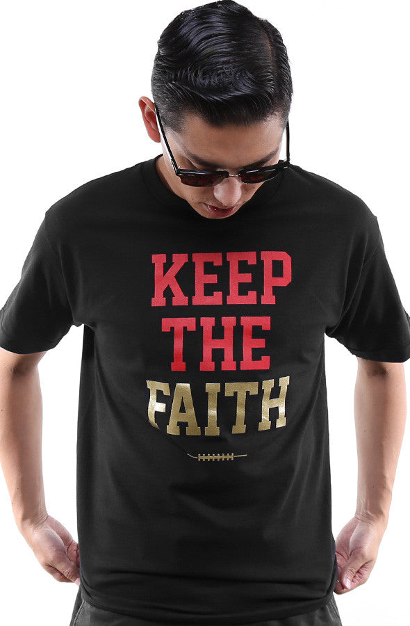 Keep The Faith (Men's Black Tee)