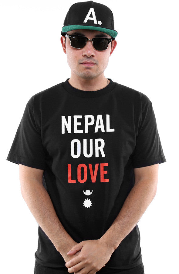Nepal Our Love :: Nepal Earthquake Relief (Men's Black Tee)