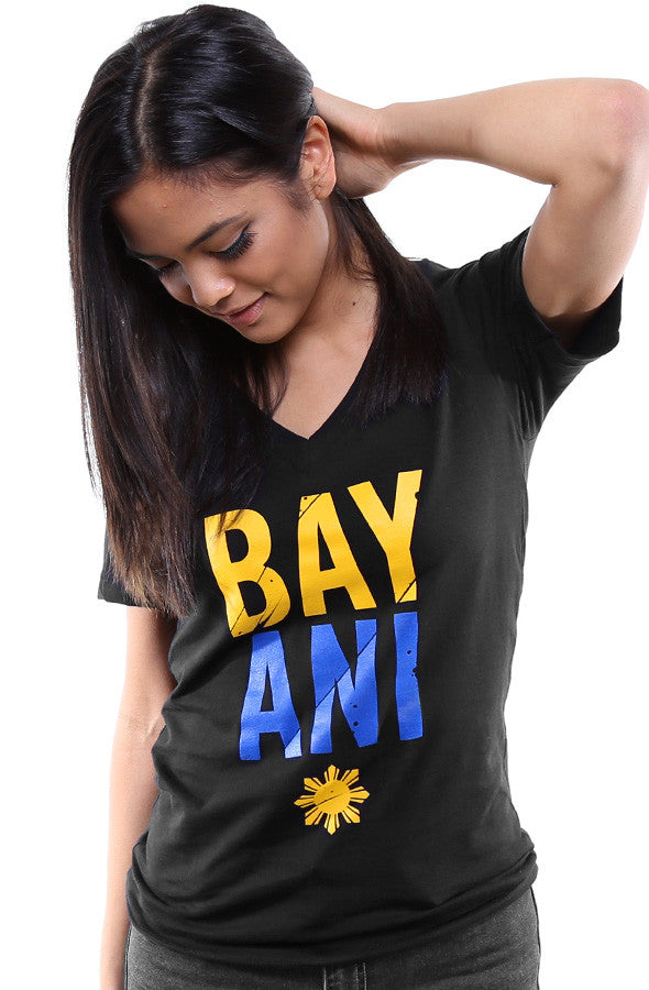 Bayani (Women's Black V-Neck)