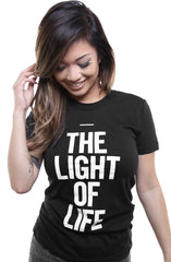 The Light of Life (Women's Black Tee)
