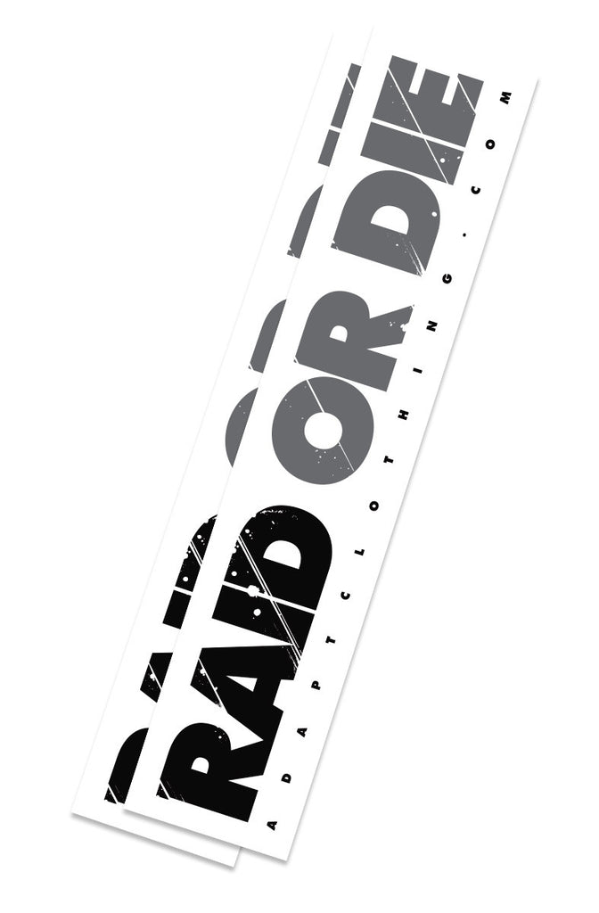 Raid Or Die (White/Grey Sticker 2-Pack)