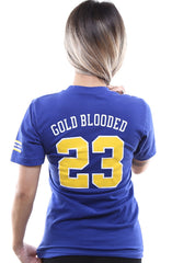 Gold Blooded Royalty :: 23 (Women's Royal V-Neck)
